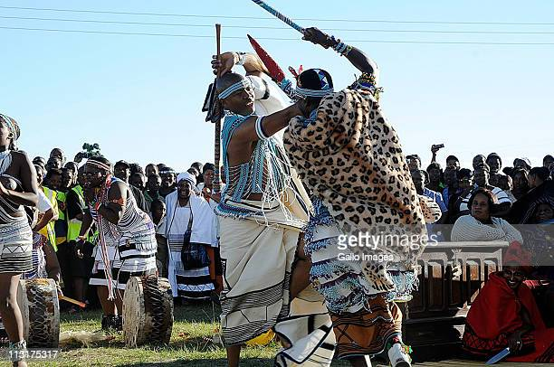 Former head of Lembede Investment Holdings Lonwabo Sambudla performs Xhosa traditional dances during his traditional wedding ceeremony to President...