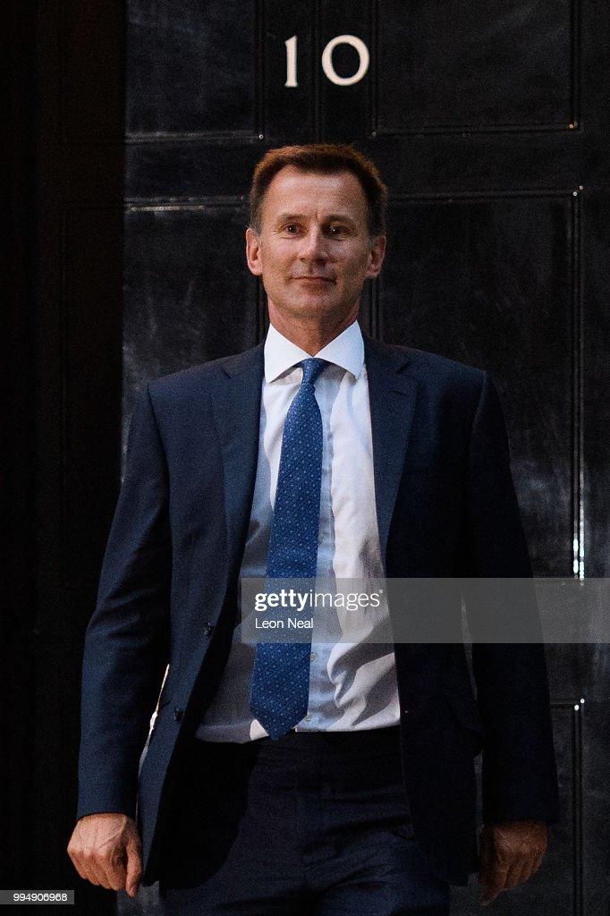 GBR: Former Health Secretary Jeremy Hunt Becomes Foreign Secretary
