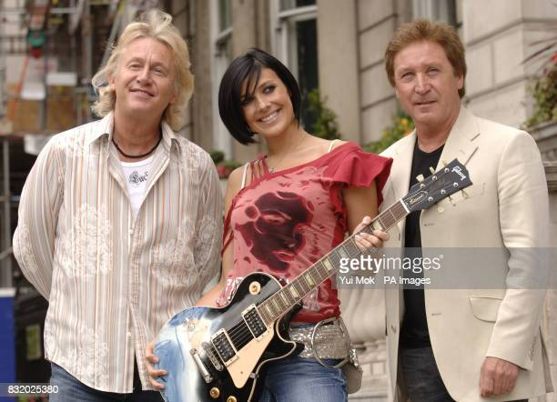 Former Hear'Say member and Coronation Street actress Kym Ryder with with Kenny Jones Robert Hart and Rock Willis announcing the forthcoming 'Carew...