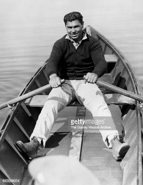 Former Heaveyweight Champion Jack Dempsey training for title fight with Champion Gene Tunney Saratoga Springs New York June 29 1927
