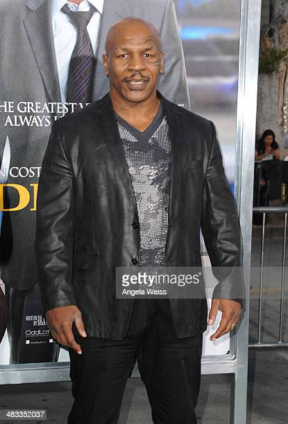 Former Heavy Weight Boxing Champion Mike Tyson attends the premiere of Summit Entertainment's 'Draft Day' presented by Bud Light at the Regency Bruin...