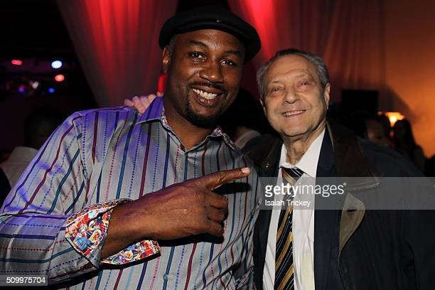 Former Heavyweight boxer Lennox Lewis and Stan Garden attend the 2016 NBA AllStar Weekend Maxim Party at Muzik on February 12 2016 in Toronto Canada