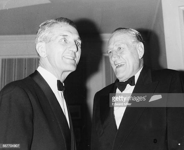 Former heavyweight boxers Georges Carpentier and Bombardier Billy Wells at an event in honor of the former at the National Sporting Club Dinner for...