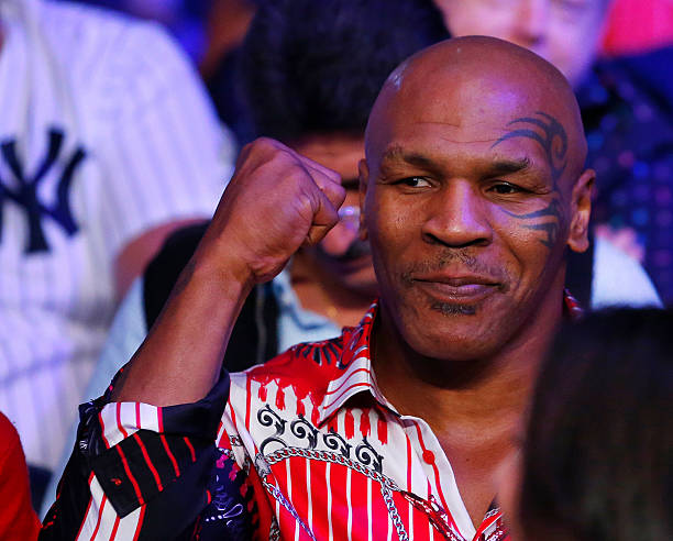 Former Heavyweight boxing champ Mike Tyson attends the fight between Miguel Cotto and Sergio Martinez on June 7, 2014 at Madison Square Garden in New...