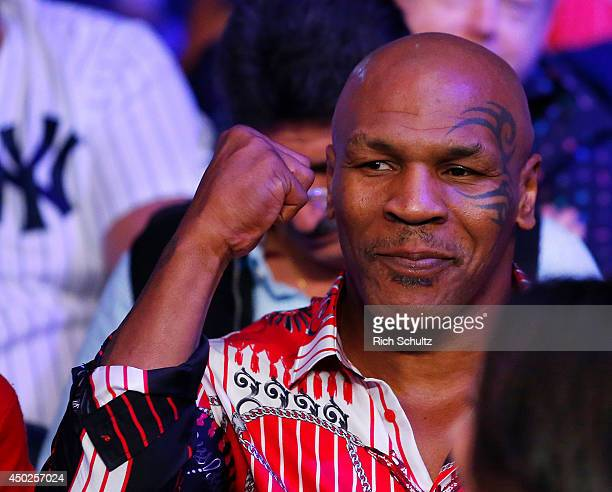 Former Heavyweight boxing champ Mike Tyson attends the fight between Miguel Cotto and Sergio Martinez on June 7 2014 at Madison Square Garden in New...