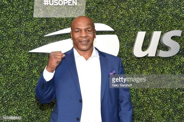 Former heavyweight boxing champion Mike Tyson attends the USTA 18th Annual Opening Night Gala Blue Carpet at USTA Billie Jean King National Tennis...