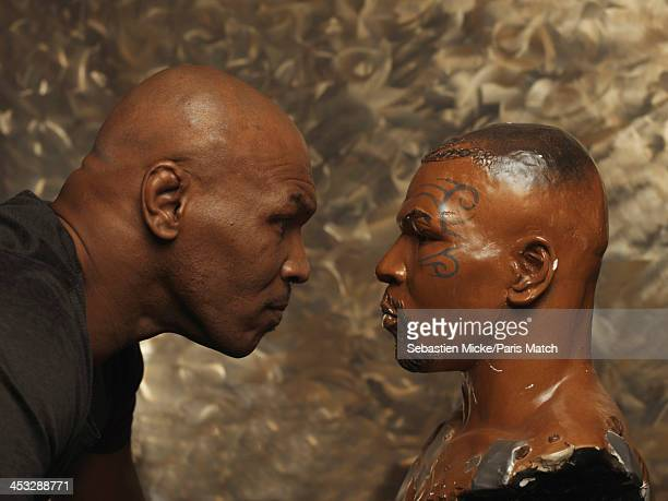 Former heavyweight boxing champion Mike Tyson is photographed at home for Paris Match on November 22 2013 in Las Vegas Nevada