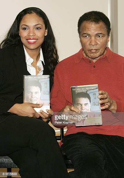 Former heavyweight champ Muhammad Ali and his daughter Hana Yasmeen Ali make an appearance at Barnes and Noble to meet fans and to promote his new...