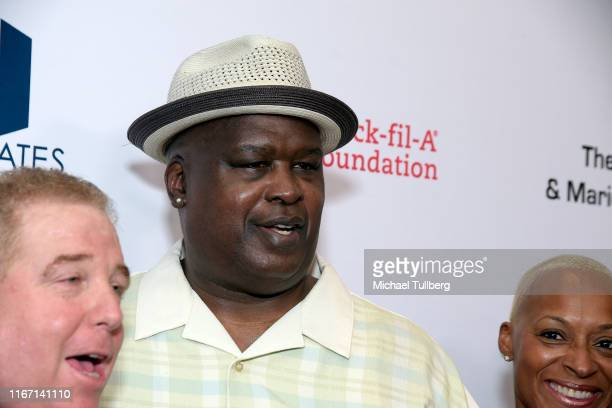 Former heavyweight champion James Buster Douglas attends the 19th annual Harold and Carole Pump Foundation Gala at The Beverly Hilton Hotel on August...