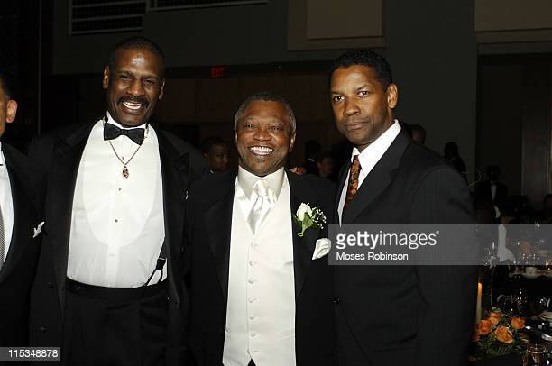 Former Heavyweight Champion Michael Spinks Boxing Promoter Butch Lewis and Denzel Washington