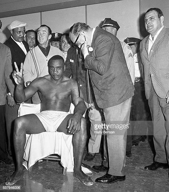 Former heavyweight champion Sonny Liston is photographed during the weigh in for the Clay vs Liston fight in Miami Florida
