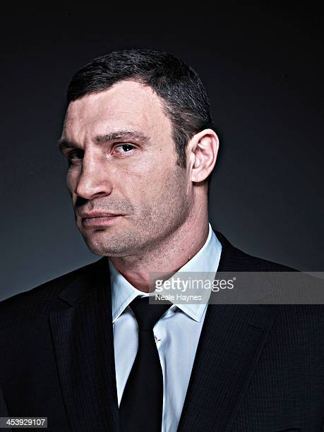 Former heavywieght boxing champion Vitali Klitschko is photographed for Live Night Day magazine on March 11 2012 in Kiev Ukraine
