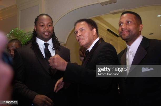 Former Heavywieght Champion Lennox Lewis and Muhammad Ali and Tavis Smiley