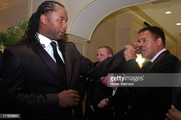 Former Heavywieght Champion Lennox Lewis and Muhammad Ali