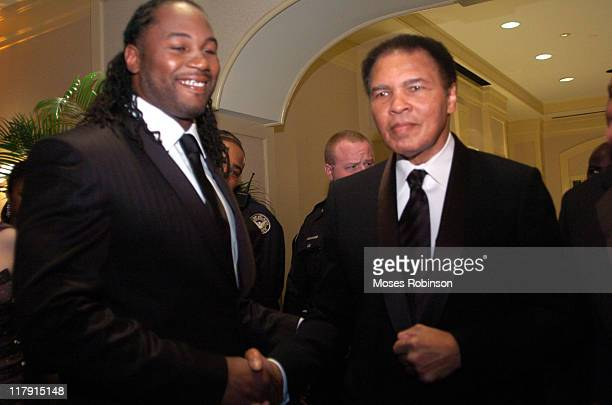 Former Heavywieght Champions Lennox Lewis and Muhammad Ali