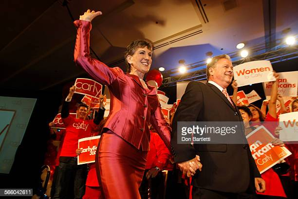 JUNE 8 2010 ANAHEIM CA Former HewlettPackard CEO Carly Fiorina expected Republican party winner of the US Senate primary thanks supporters on...