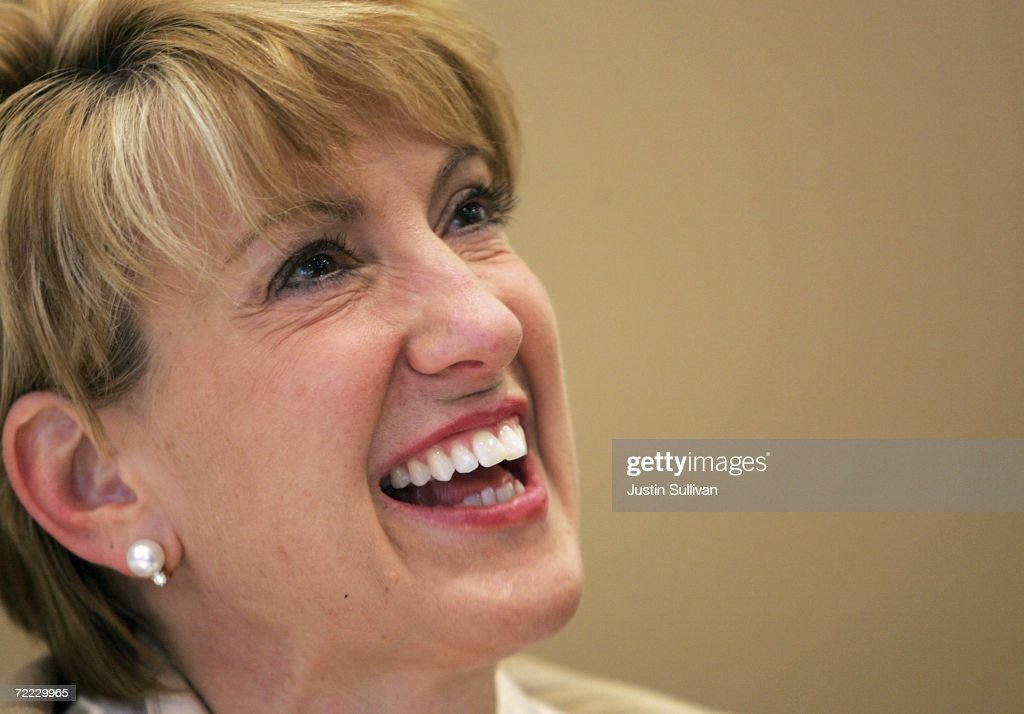 Former Hewlett-Packard CEO Carly Fiorina smiles as she signs copies of her new book 'Tough Choices' October 20, 2006 in San Francisco, California. Fiorina, who was fired by the board from HP in February 2005, spoke to members of the BAR Association of San Francisco about her new book.