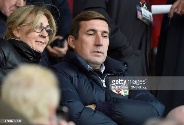 Former Hibernian manager Alan Stubbs watches from the stands during the Ladbrokes Premiership match between Hamilton and Hibernian at the FOY Stadium...
