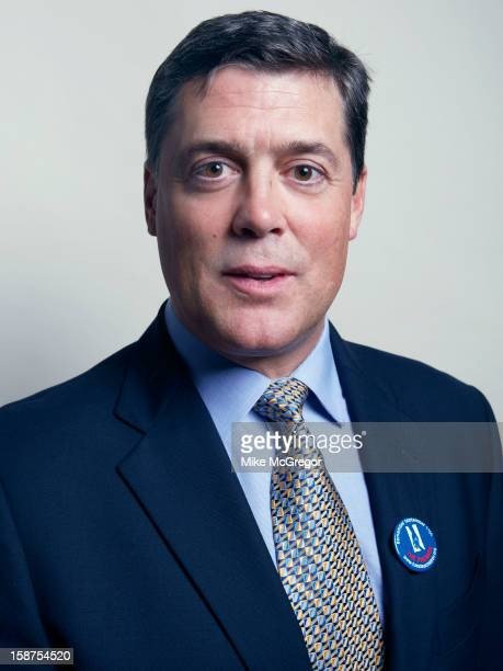 Former hockey player Pat LaFontaine is photographed for Self Assignment on September 11 2012 in New York City