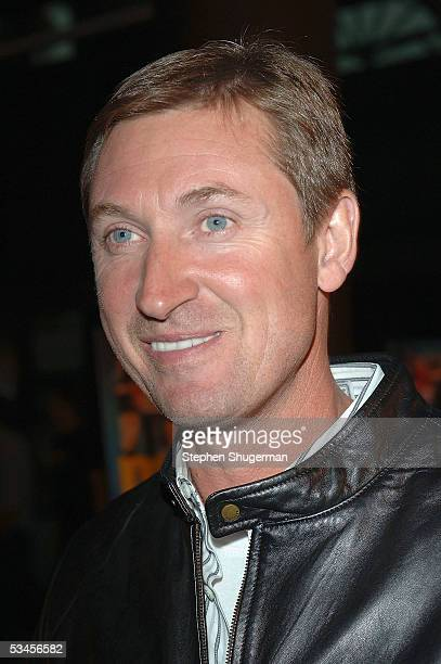 Former hockey player Wayne Gretzky atttends the world premiere of Dirty Deeds at the Directors Guild of America on August 23 2005 in Los Angeles...