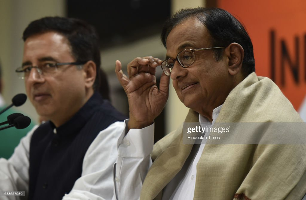 Congress Party Press Conference On General Budget 2017 : News Photo