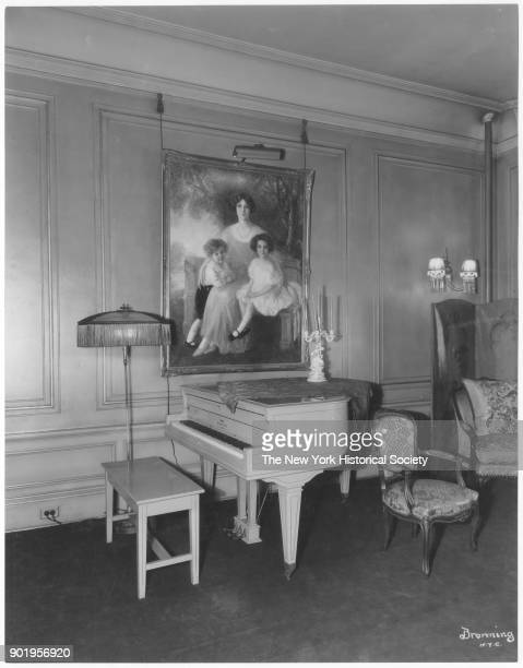 Former home of Fanny Brice 76th Street corner of living room Long Island New York New York 1929