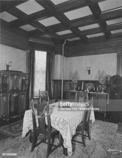Former home of Fanny Brice 76th Street dining room Long Island New York New York 1929
