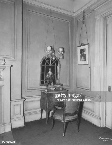 Former home of Fanny Brice 76th Street section of living room Long Island New York New York 1929