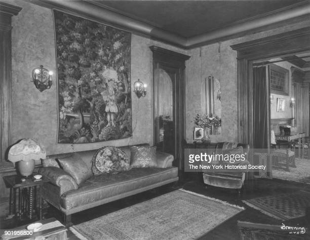 Former home of Fanny Brice 76th Street sitting room Long Island New York New York 1929