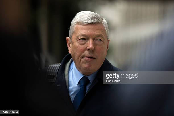 Former Home Secretary Alan Johnson arrives to attend a press conference held by former shadow business secretary Angela Eagle in which Eagle...