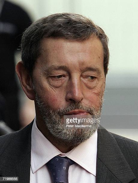 Former Home Secretary David Blunkett arrives at the Labour Party conference on September 25, 2006 in Manchester. Earlier Chancellor Gordon Brown made...