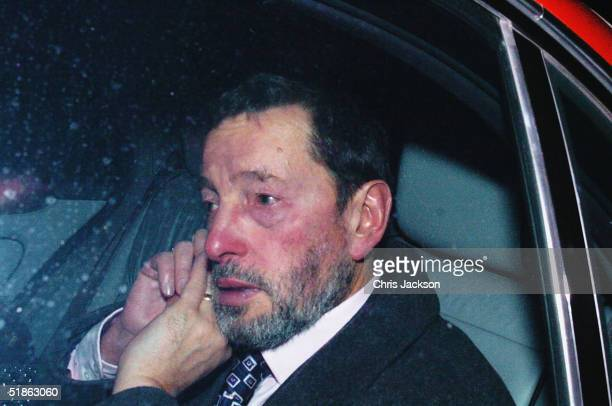 Former Home Secretary David Blunkett leaves the Home Office for the last time after resigning from his cabinet post on December 15 London England