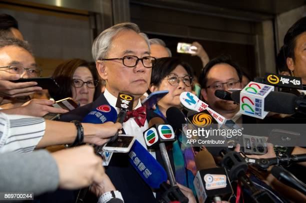 Former Hong Kong chief executive Donald Tsang and his wife Selina leave the High Court after the jury was unable to reach a verdict in his...