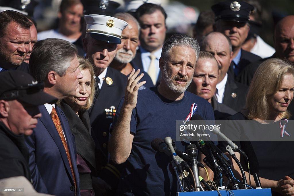 Jon Stewart Rally for 9/11 Responders : News Photo