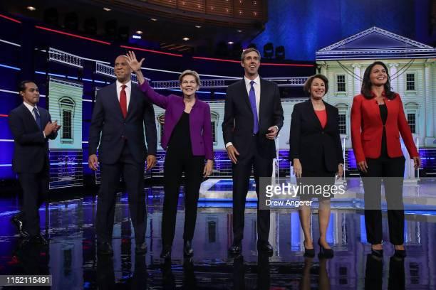 Former housing secretary Julian Castro Sen Cory Booker Sen Elizabeth Warren former Texas congressman Beto O'Rourke Sen Amy Klobuchar and Rep Tulsi...