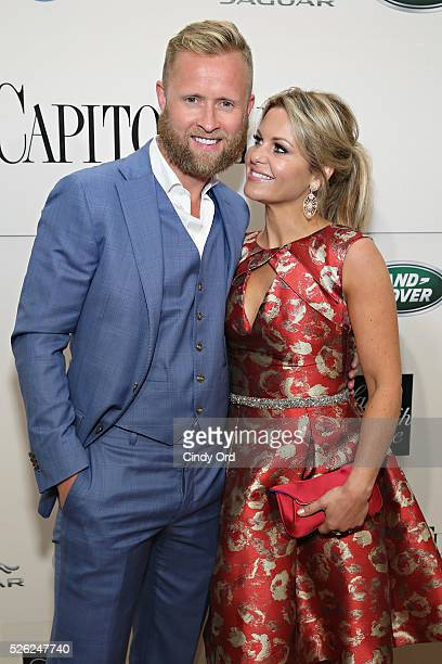 Former ice hockey right wingerValeri Bure and actress Candace Cameron-Bure attend as Jaguar Land Rover sponsor Capitol File's White House...