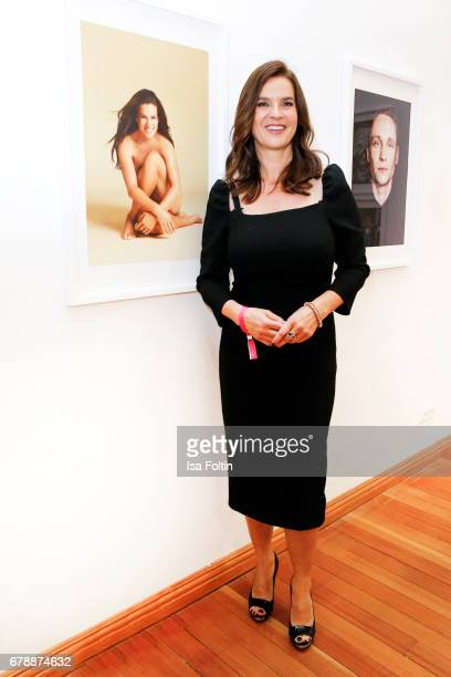 Former ice skater Katarina Witt attends the 'FotoKunstBoulevard' opening at MartinGropiusBau on May 4 2017 in Berlin Germany
