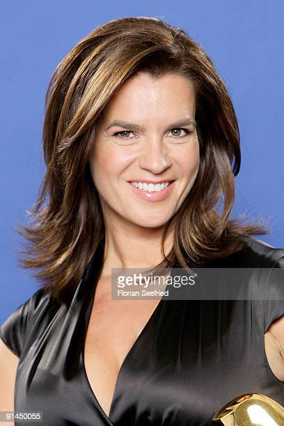 Former ice skating champion Katarina Witt attends her presentation as new Bambi Host at Sky Lounge at Side Hotel on October 5 2009 in Hamburg Germany...