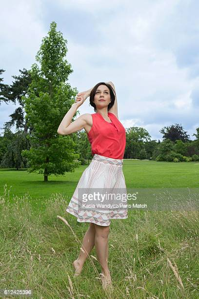 Former ice skating champion Nathalie Pechalat is photographed for Paris Match on June 20 2016 in Paris France