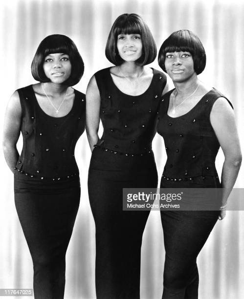 Former Ike and Tina Turner backup singers and recording artists The Mirettes LR Jessie Smith Robbie Montgomery and Venetta Fields pose for a portrait...
