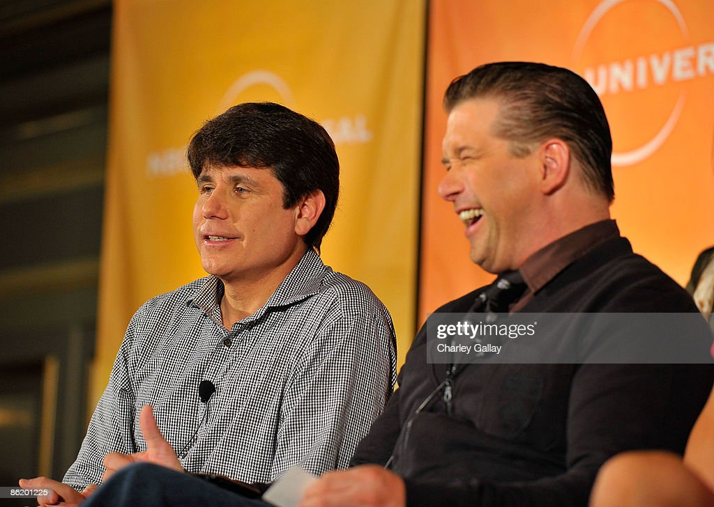 Former Illinois Gov. Rod Blagojevich (L) and actor Stephen Baldwin attend a press conference for 'I'm a Celebrity Get Me Out Of Here!' at the Langham Hotel on April 24, 2009 in Pasadena, California.