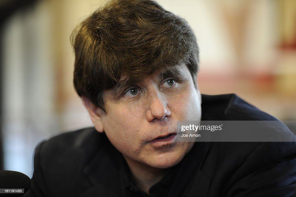 Former Illinois Gov. Rod Blagojevich stopped at Freddy's Frozen Custard & Steakburgers before turning himself in to the Federal Correctional Institution (FCI) Englewood just a few minutes away in Littleton, Colorado, to begin his 14-year prison sentence o : News Photo