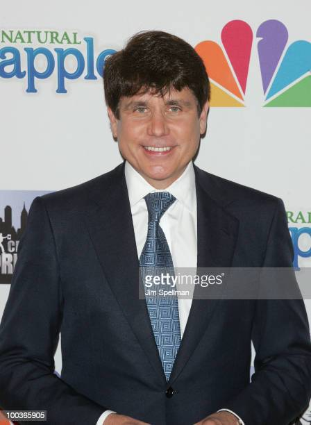 Former Illinois Governor Rod Blagojevich attends The Celebrity Apprentice Season 3 finale after party at the Trump SoHo on May 23 2010 in New York...