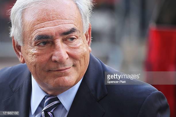 Former IMF director Dominique StraussKahn enters a Manhattan court on August 23 2011 in New York City The Manhattan District Attorney's office has...