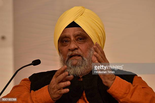 Former Indian Cricket Captain Bishan Singh Bedi during a session on 'Can BCCI Be Professionalized' at Hindustan Times Leadership Summit on December 5...
