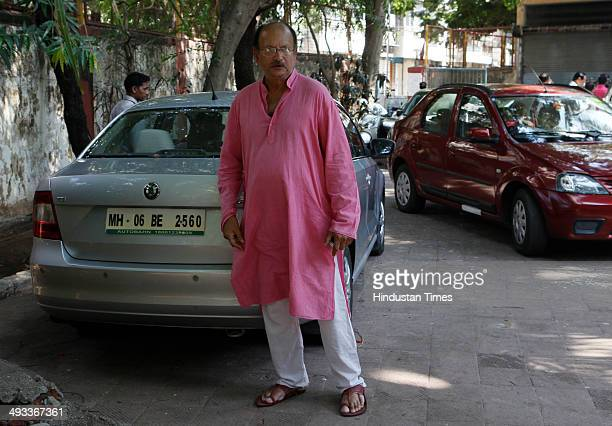 Former Indian cricketer Ajit Wadekar comes out after paying his last respect to late Madhav Mantri at his residence in Hindu Colony Dadar on May 23...