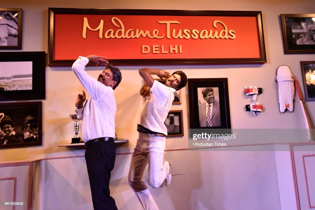 Former Indian cricketer Kapil Dev Unveils His Wax Statue At Madame Tussauds In Delhi