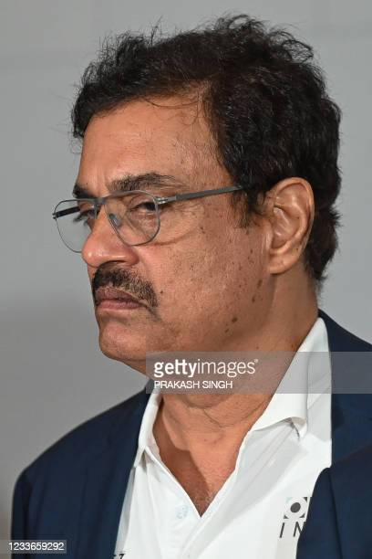 """Former Indian cricketer Dilip Vengsarkar, who won the 1983 World Cup, attends the launch of the newest edition of """"The 1983 World Cup Opus"""" book in..."""
