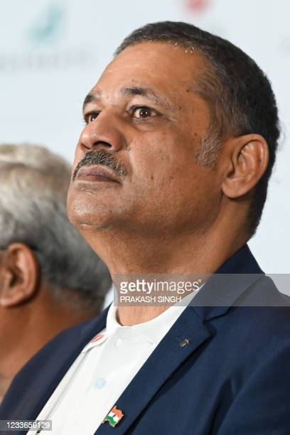 """Former Indian cricketer Kirti Azad, who won the 1983 World Cup, attends the launch of the newest edition of """"The 1983 World Cup Opus"""" book in Gurgaon..."""