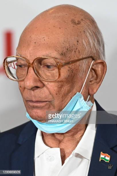 """Former Indian cricketer PR Man Singh, who won the 1983 World Cup, attends the launch of the newest edition of """"The 1983 World Cup Opus"""" book in..."""